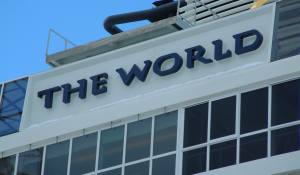 The world logo- on top of cruise 2557x1495